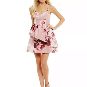 NEW KEEPSAKE THE LABEL PINK FLORAL DRESS